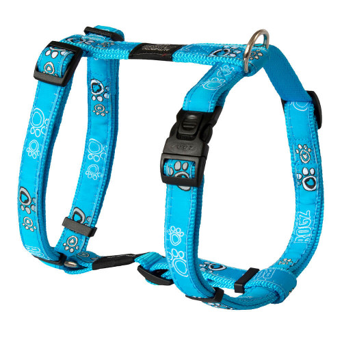 Класически кучешки нагръдник - модна колекция Rogz Turq Paw