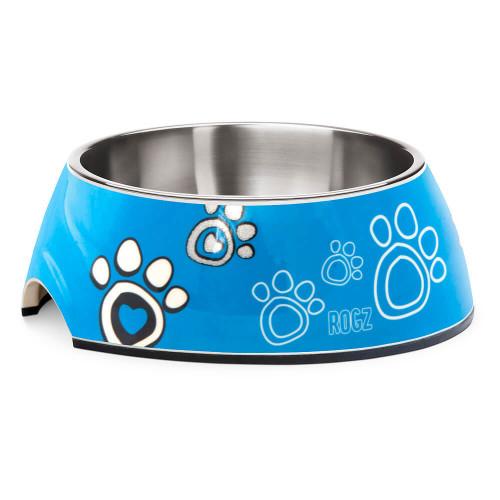 Кучешка паничка за храна и вода Rogz Bubble Bowlz - колекция Turq Paw
