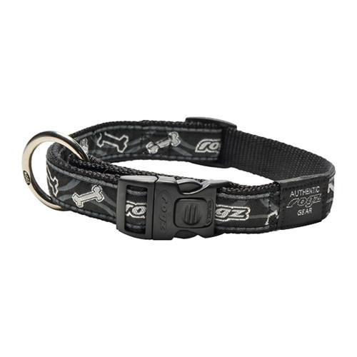Класически кучешки нашийник Rogz Classic Collar - модна колекция Black Bone