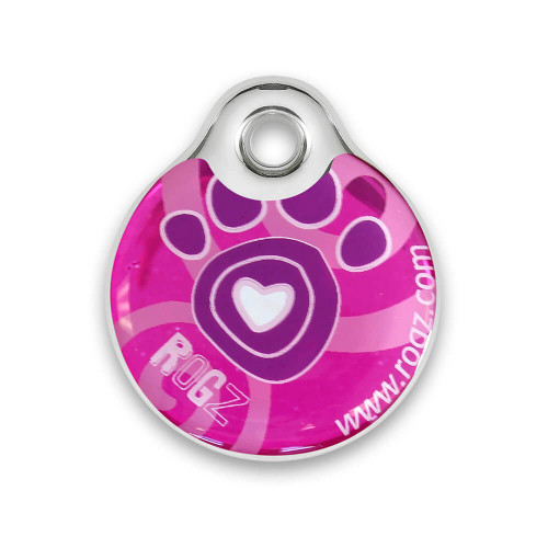 Rogz ID Tag - медальон за кучешки нашийник от модната колекция Pink Paw