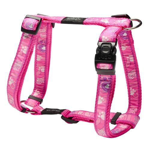 Класически кучешки нагръдник - модна колекция Rogz Pink Paw