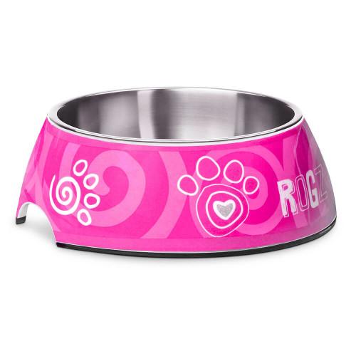 Кучешка паничка за храна и вода Rogz Bubble Bowlz - колекция Pink Paw