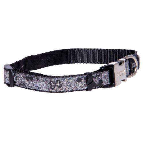 Нашийник за най-малки породи кучета от дизайнерската модна колекция Rogz Trendy Collar Black Bones