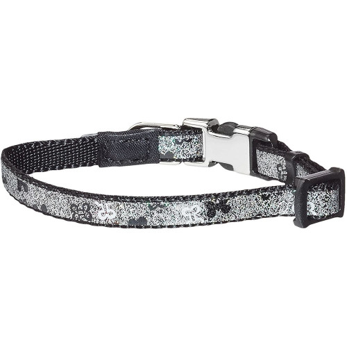 Нашийник за миниатюрни породи кучета от дизайнерската модна колекция Rogz Trendy Collar Black Bones