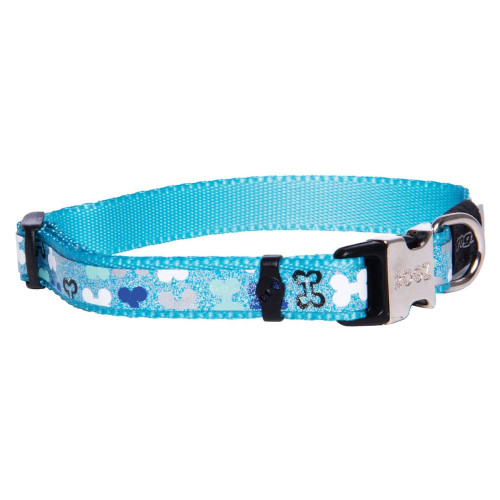 Нашийник за миниатюрни породи кучета от дизайнерската модна колекция Rogz Trendy Collar Blue Bones
