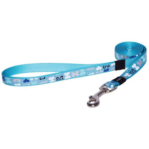 Повод за миниатюрни породи кучета от дизайнерската модна колекция Rogz Trendy Lead Blue Bones