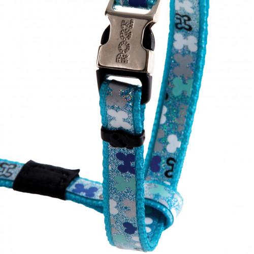 Нагръдник за миниатюрни кучета Rogz Trendy Harness - дизайнерска модна колекция Blue Bones