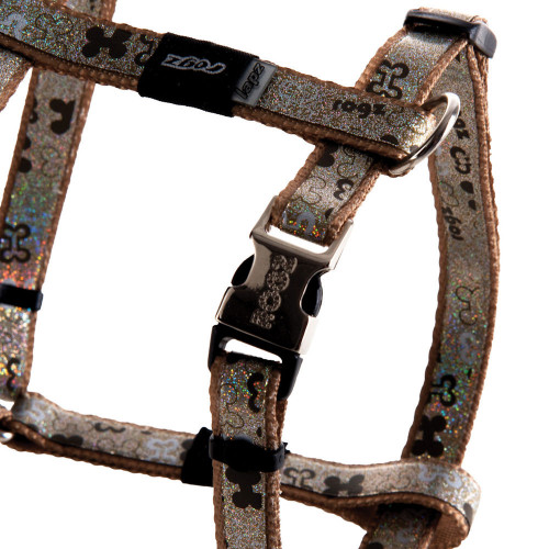 Мода за кучета Rogz Trendy Harness Brown Bones