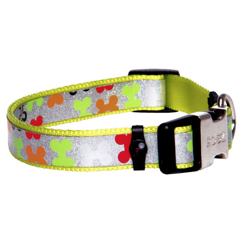 Нашийник за миниатюрни породи кучета от дизайнерската модна колекция Rogz Trendy Collar Multi Bones