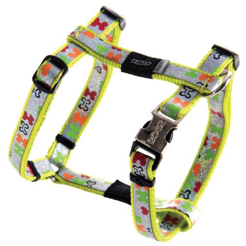 Нагръдник за миниатюрни кучета Rogz Trendy Harness - дизайнерска модна колекция Multi Bones