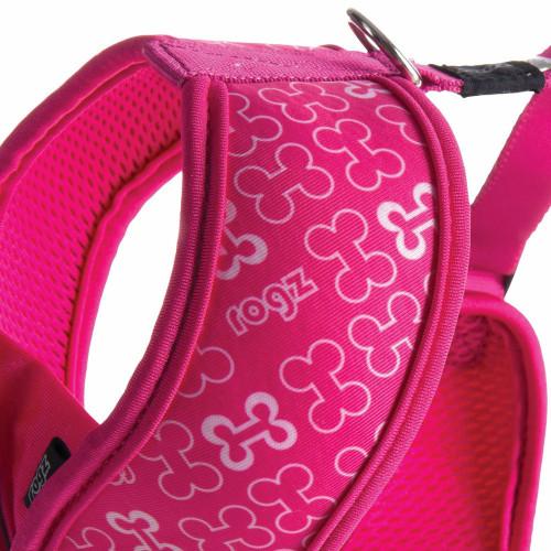 Мода за кучета Rogz Trendy Wrapz Pink Bones