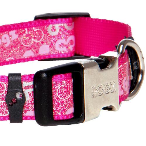 Мода за кучета Rogz Trendy Collar Pink Bones