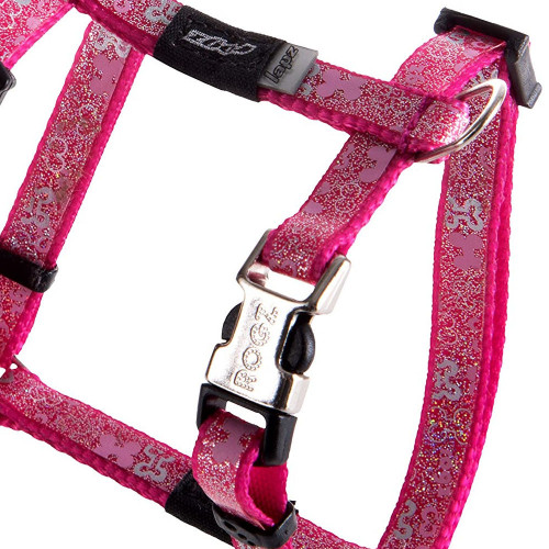 Мода за кучета Rogz Trendy Harness Pink Bones