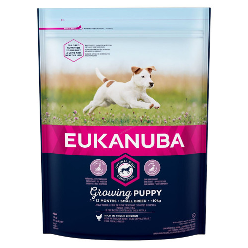 Храна за кутрета от дребни породи Eukanuba Puppy Small - 1кг