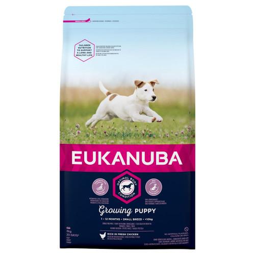 Храна за кутрета от малки породи Eukanuba Puppy Small - 3кг