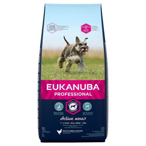 Суха храна за кучета от малки породи Eukanuba Adult Dog Small - 18кг