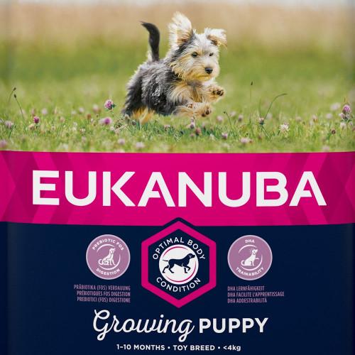 Храна за кутрета от породи играчки Eukanuba Puppy Toy - 2кг