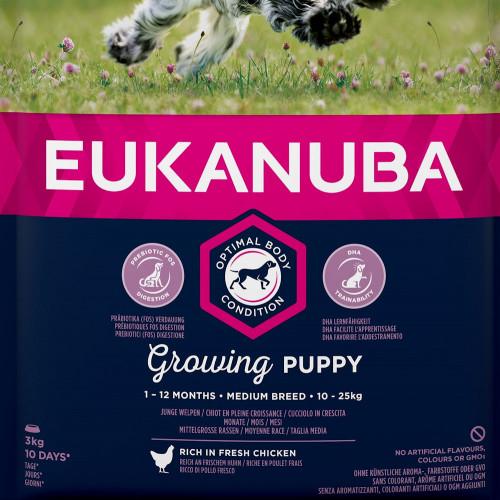Храна за кутрета от средни породи Eukanuba Puppy Medium - 3кг