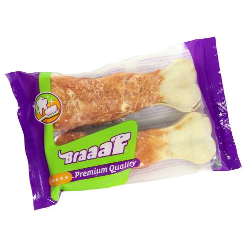 Пресован кокал от телешка кожа увит в пилешко филе BRAAAF Pressed Bone Chicken - 2 x 12.5см