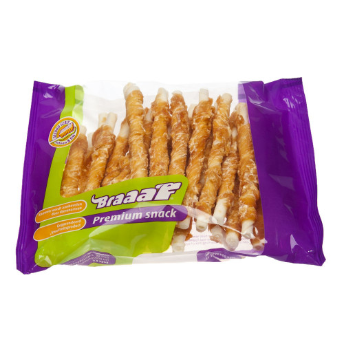 Усукани пръчици с пилешко BRAAAF Roll Sticks Chicken - 30 x 12.5см