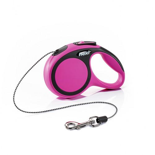 Автоматичен повод за кучета от мини породи Flexi New Comfort XS с въже 3м - розов
