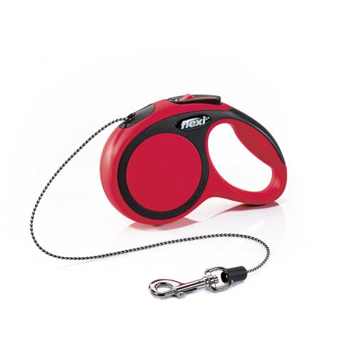 Автоматичен повод за кучета от мини породи Flexi New Comfort XS с въже 3м - червен
