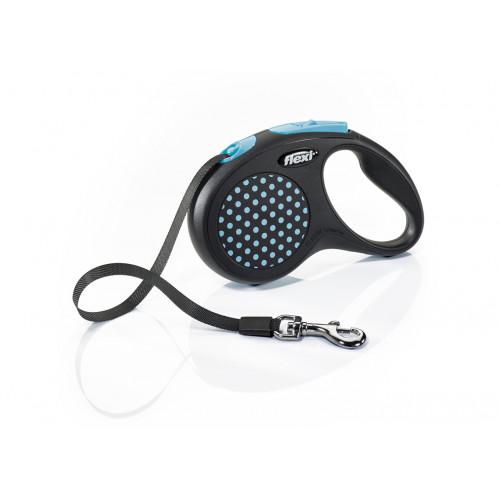 Автоматичен повод за кучета Flexi Design Dots S с лента 5м