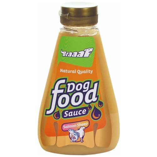 Вкусна и полезна хранителна добавка за кучета BRAAAF Сос агнешко/сьомга - 425мл