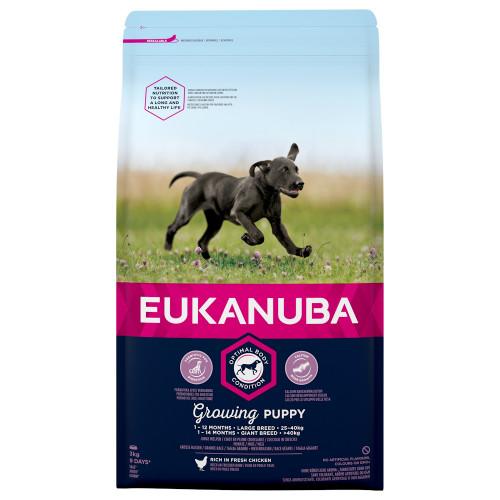 Храна за подрастващи кученца от едри и гигантски породи Eukanuba Puppy Large - 3кг