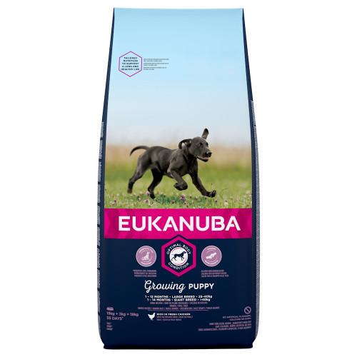 Храна за подрастващи кученца от гигантски и едри породи Eukanuba Puppy Large - 18кг