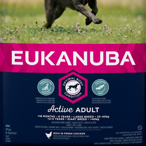 Храна за кучета от едри и гигантски породи Eukanuba Dog Adult Large - 3кг