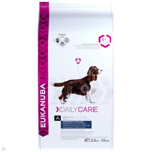 Диетична храна за кастрирани кучета Eukanuba Daily Care Dog Overwieght/Sterilized 2.5кг