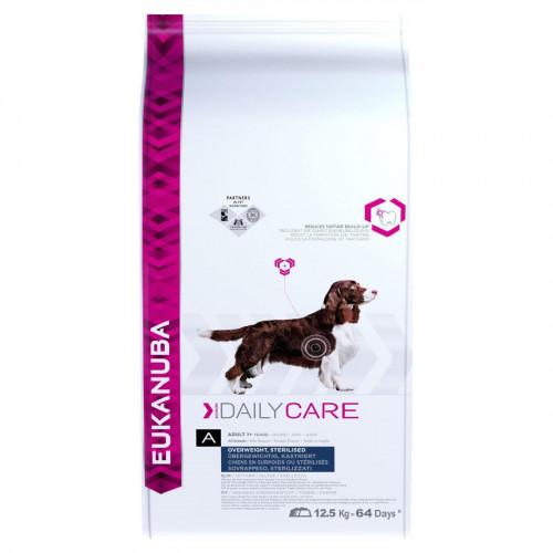 Диетична кучешка храна за сваляне и контрол на теглото Eukanuba Daily Care Dog Overwieght/Sterilized 12.5кг + 4кг гратис