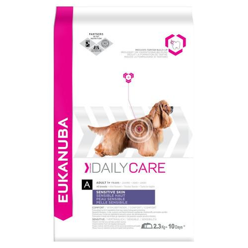 Храна за кучета със склонност към кожни алергични реакции Eukanuba Daily Care Dog Sensitive Skin 2.5кг