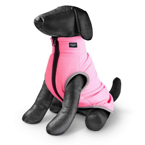 Двулицево яке за куче в сиво и розово Rogz PufferSkin Gray & Pink