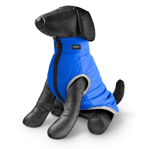 Двулицево яке за куче в черно и синьо Rogz PufferSkin Black & Blue
