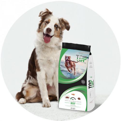 Евтина кучешка храна Top Dog - Beef 20кг