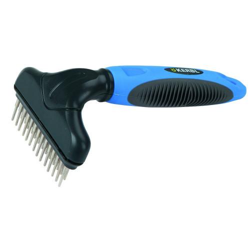 Двуредов гребен за разресване на гъста козина със сплъстявания и фъндъци