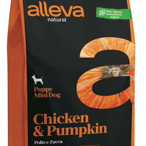 """Суха храна с тиква за кутрета от мини породи Alleva® Natural """"Chicken & Pumpkin"""" Puppy Mini - 2.00kg"""