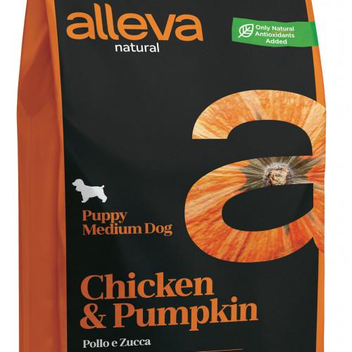 "Суха храна с тиква за кутрета от средни породи Alleva® Natural ""Chicken & Pumpkin"" Puppy Medium - 2.00kg"