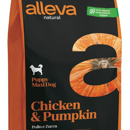 "Суха храна с тиква за кутрета от едри породи Alleva® Natural ""Chicken & Pumpkin"" Puppy Maxi - 2.00kg"