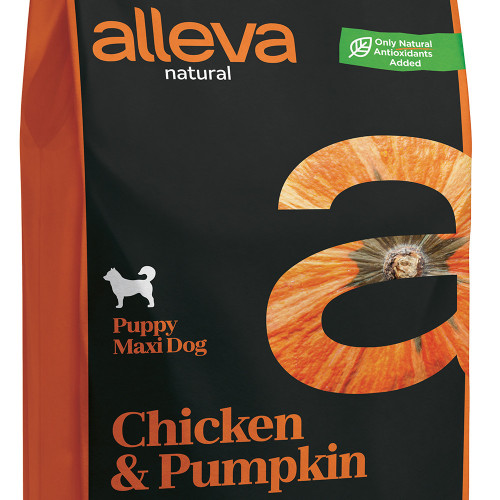 "Суха храна с тиква за кутрета от големи породи Alleva® Natural ""Chicken & Pumpkin"" Puppy Maxi - 12.00kg"