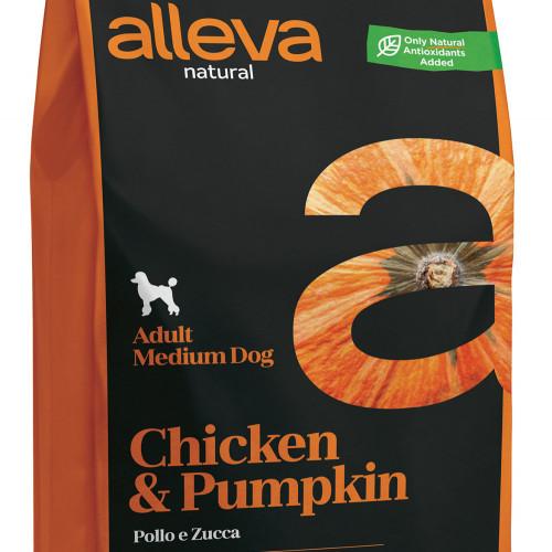 "Качествена кучешка храна с тиква Alleva® Natural ""Chicken & Pumpkin"" Adult Medium - 2.00kg"