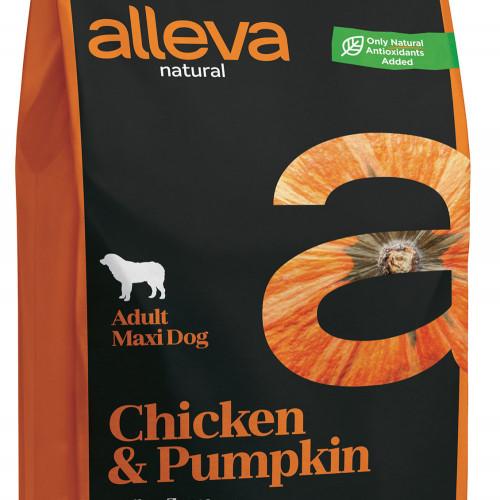"""Качествена кучешка храна с тиква Alleva® Natural """"Chicken & Pumpkin"""" Adult Large - 2.00kg"""