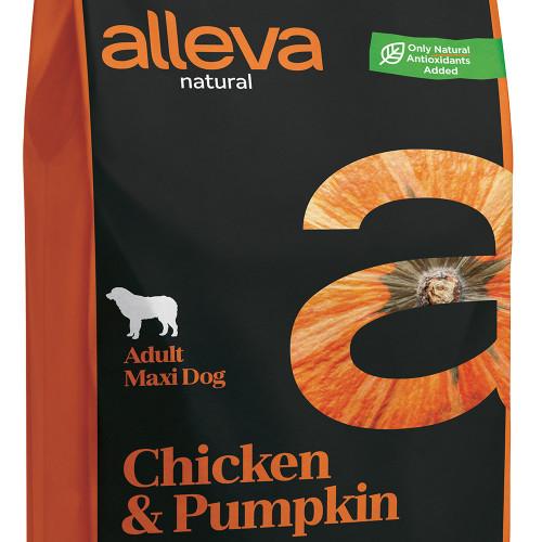 """Качествена храна с тиква за кучета от големи и гигантски породи Alleva® Natural """"Chicken & Pumpkin"""" Adult Large - 12.00kg"""