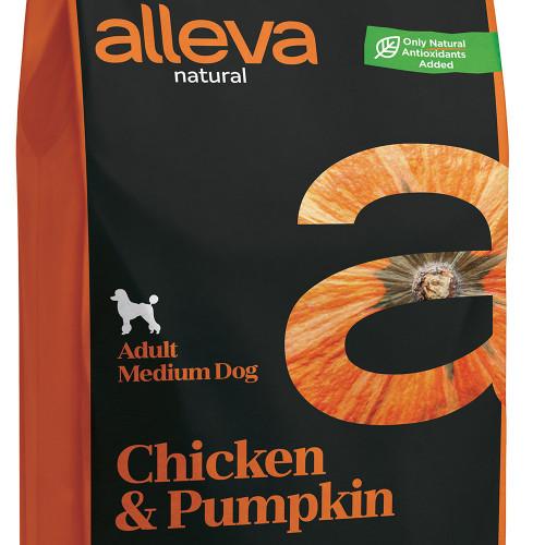 "Качествена кучешка храна с тиква Alleva® Natural ""Chicken & Pumpkin"" Adult Medium - 12.00kg"