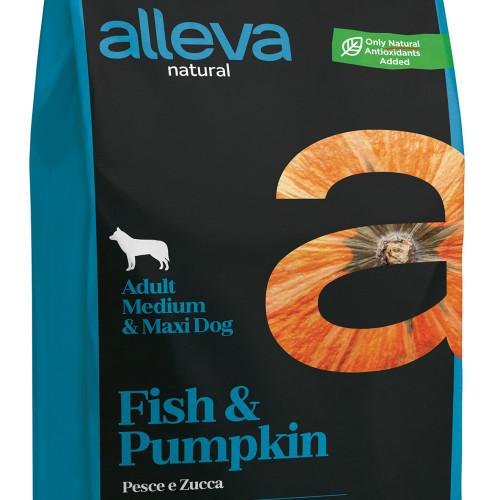 """Храна за кучета с тиква и риба Alleva® Natural """"Fish & Pumpkin"""" Adult Medium & Maxi - 2.00kg"""