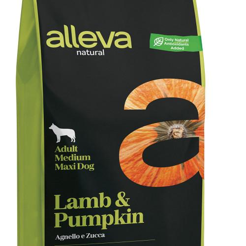 """Кучешка храна с тиква и агнешко Alleva® Natural """"Lamb & Pumpkin"""" Adult Medium & Maxi - 12.00kg"""