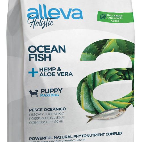 """Холистична храна за кученца от големи породи Alleva® Holistic """"Океанска риба + коноп & алое вера"""" Puppy Maxi - 12.00kg"""