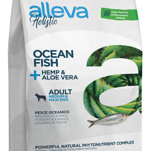 """Холистична храна за кучета Alleva® Holistic """"Океанска риба + коноп & алое вера"""" Adult Medium & Maxi - 2.00kg"""